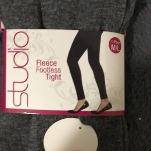 Women fleece footless tight